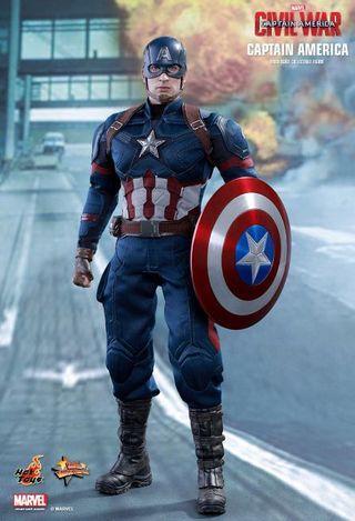 🚚 Hot Toys Civil war Captain  America