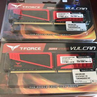 T-Force DDR4-2400MHz PC Gaming RAM 4GB x 2 Pieces