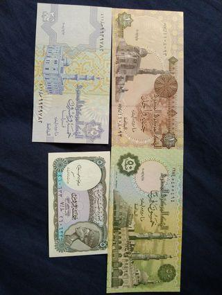 UNC set of Egyptian pound