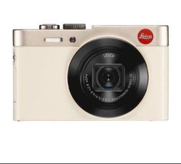 BNIB Leica C (Typ 112) Light Gold Digital Camera