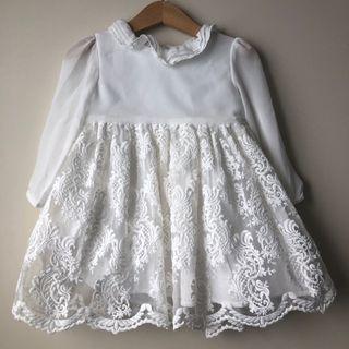 Girls White Gown