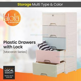 ✔FREE DELIVERY: Macaron Series Plastic Drawers with lock .