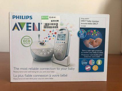 BNIB Philips Avent DECT Baby Monitor SCD580