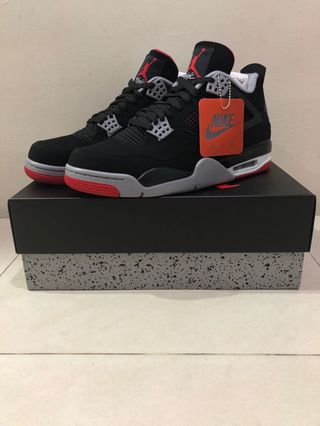Nike Air Jordan 4 Retro Bred 2019 Iv Aj4 Black Red Men Shoes Sneakers 308497-060 Men's Shoes Clothing, Shoes & Accessories