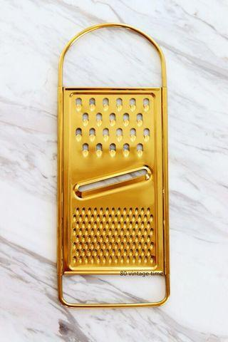 Copper gold flat grater for Nordic or Victorian style kitchen
