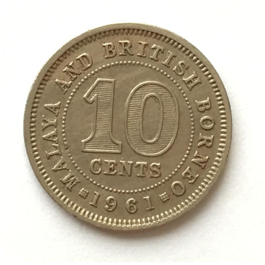 10 Cents 1961 Malaya & British Borneo