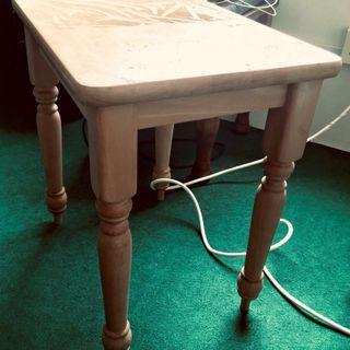 SPECIAL RAMADAN SALE!  Small Ivory Coloured Table #OYOHOTEL