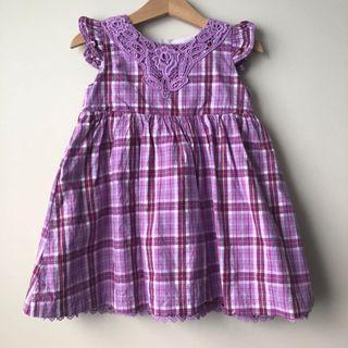 Pumpkin Patch Gingham Dress
