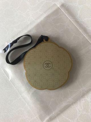 Chanel Gold Acrylic Bag Tag / Charm