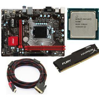G4400 and MSI B150M G1 Gamer Motherboard