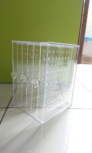 3 Layers Clear Acrylic Earing storage Case