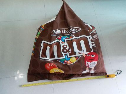 M&M soft bean bag