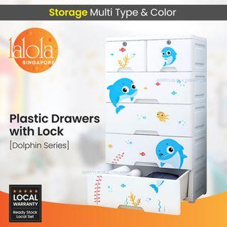 ✔FREE DELIVERY: Dolphin 5 tier Drawers storage with lock .