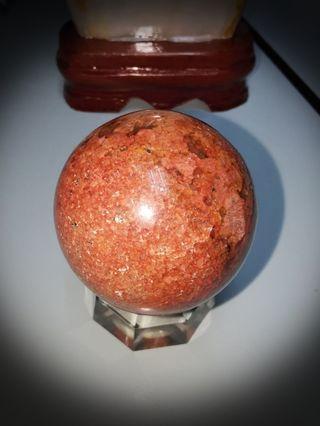 Rare! Rhodochrosite Crystal Ball! Love Quartz 🌹❤️