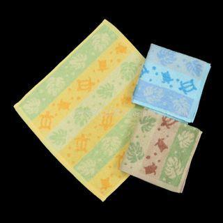 3條 海龜 方巾 毛巾 運動巾 洗面巾 全棉 手帕 手巾 洗碗巾 小毛巾 口水巾 洗臉巾 handkerchieves