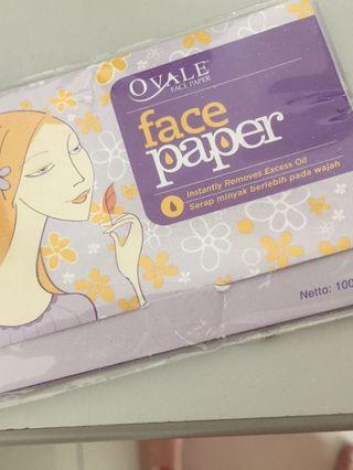 Ovale Face Paper for oily skin