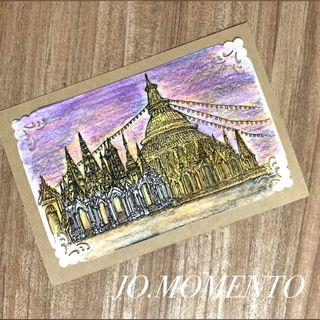 Personalised Hand Sketched Travel Postcards