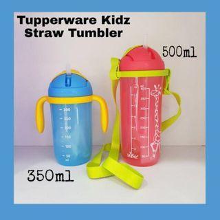 Tupperware kids straw bottle Red - 400ml