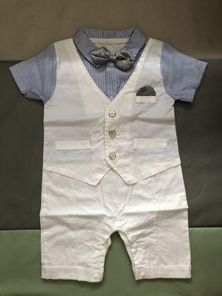 WORE ONCE Baby Boy Formal One Piece Romper Suit (FOC POSTAGE)
