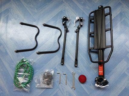Quick release bicycle rear rack
