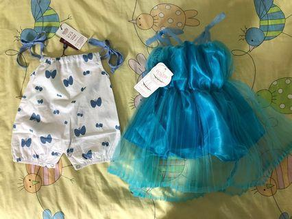 🚚 BNWT Baby Dress and Romper