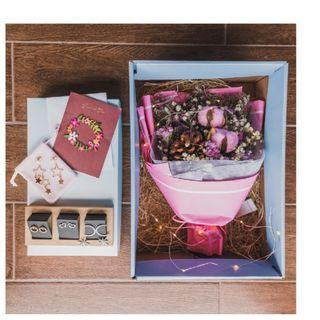 🚚 Mother's Day Bouquet | Gift Set | Flower | Rose | Baby Breath | 干花 永生花 花束 礼物 母親節