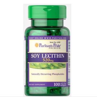『Body 3H☘️』任2瓶加購 Puritan's Pride 普瑞登 SOY LECITHIN 大豆卵磷脂 520mg 100顆