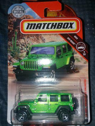 Matchbox 18 Jeep Wrangler Jl Unlimited