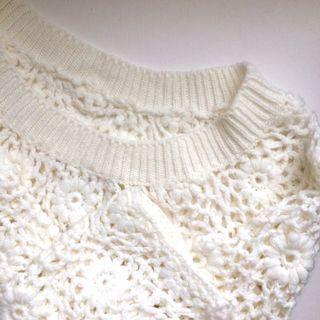 Pazzo日系氣質 簍空織花毛衣