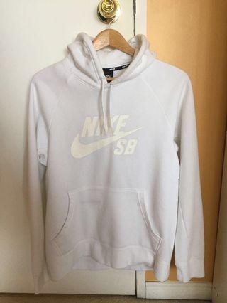 Nike authentic Sb white sweater hoodie