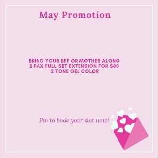 MAY PROMOTION GEL EXTENSION