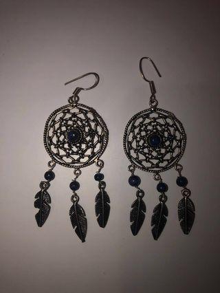 Tree of life dream catcher earrings !!
