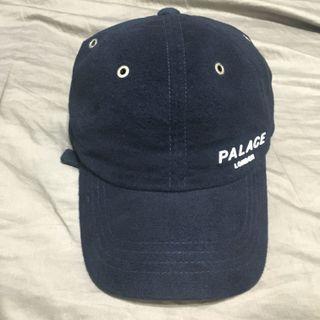 🚚 PALACE 6 panel 深藍色 麂皮 立體字體 LONDON 六分帽 老帽 二手