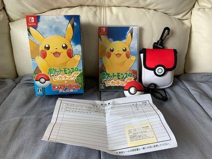 Pokemon let's go 比卡超日版 + 精靈球