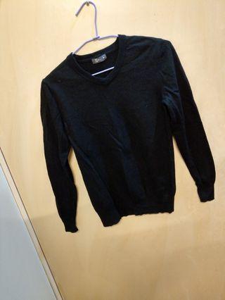 可換物 NET男版保暖黑色毛衣