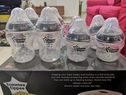 Tommee tippee bottles, manual breast pump & teats