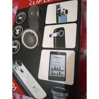 3合1廣角鏡頭 平板手機用夾式鏡頭 魚眼/廣角/微距鏡頭