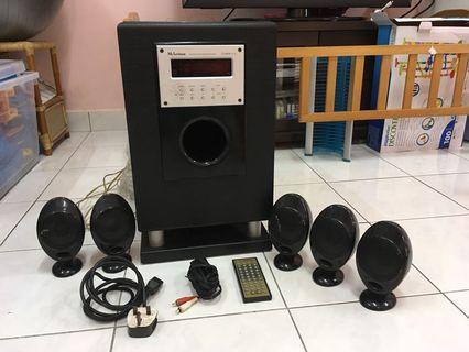 Surround sound HiFi stereo sound system