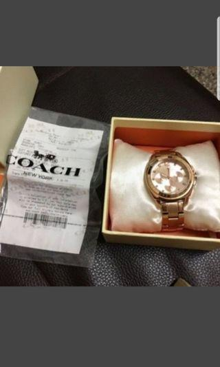 🚚 coach玫瑰金手錶 降價