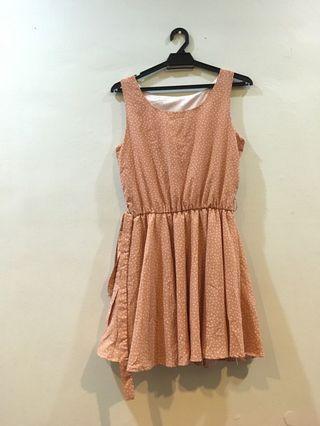 Polka dot peach dress