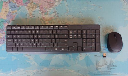 Logitech Wireless Keyboard (K235) + wireless Mouse (M170)