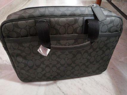 "Luxury's Bag ""MEN COACH MESSAGER BAG"" (BLACK) F70592 SVAOA Brief Working Bag"