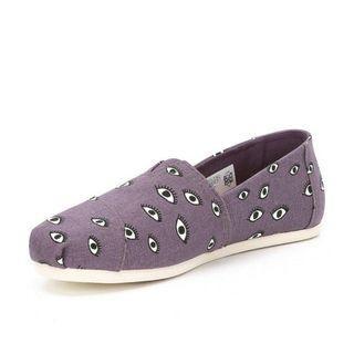[size 37] toms womens seasonal alpargata loafer flats in plum
