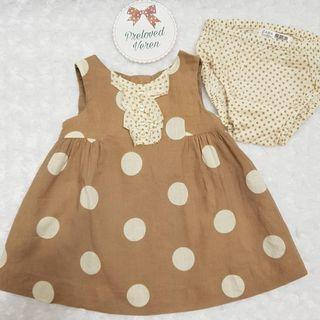 Mothercare polka shabby dress