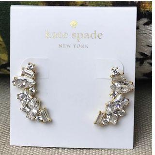 Kate Spade New York Gold Cluster Crawler Earrings