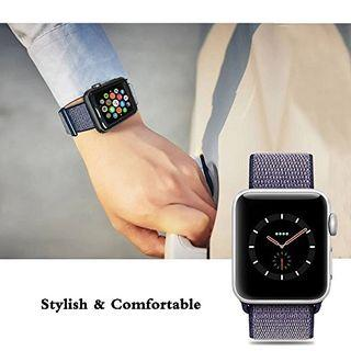 [READY STOCK] Casual sports woven nylon Midnight Blue Strap series 1-4, iwatch 44mm/42mm/40mm/38mm