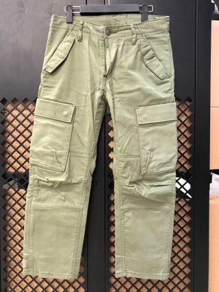 🚚 降價!Levis commuter 505 9分 墨綠 工作褲 多口袋 單車褲 機能 反光條 韓國購入 vintage