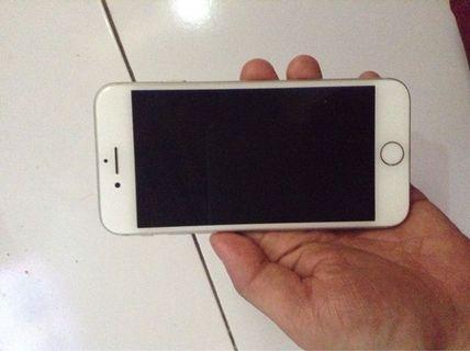 Iphone 7 32gb silver fullset dan normal semua