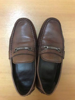 Bonia Dark Brown Loafer Authentic Leather