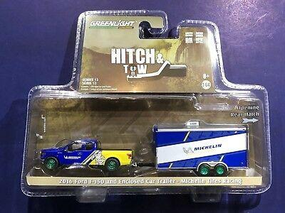 Greenlight 1:64 Hitch & Tow Michelin 2016 Ford F-150 with Car Trailer 米芝蓮 拖車